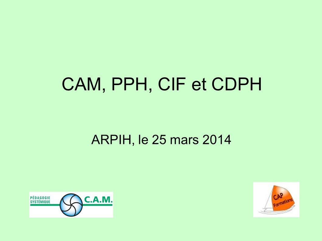 CAM, PPH, CIF et CDPH ARPIH, le 25 mars 2014