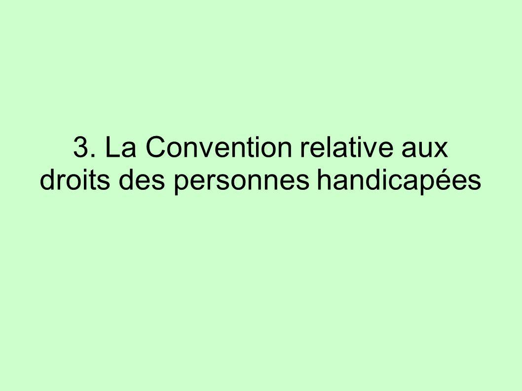 3. La Convention relative aux droits des personnes handicapées