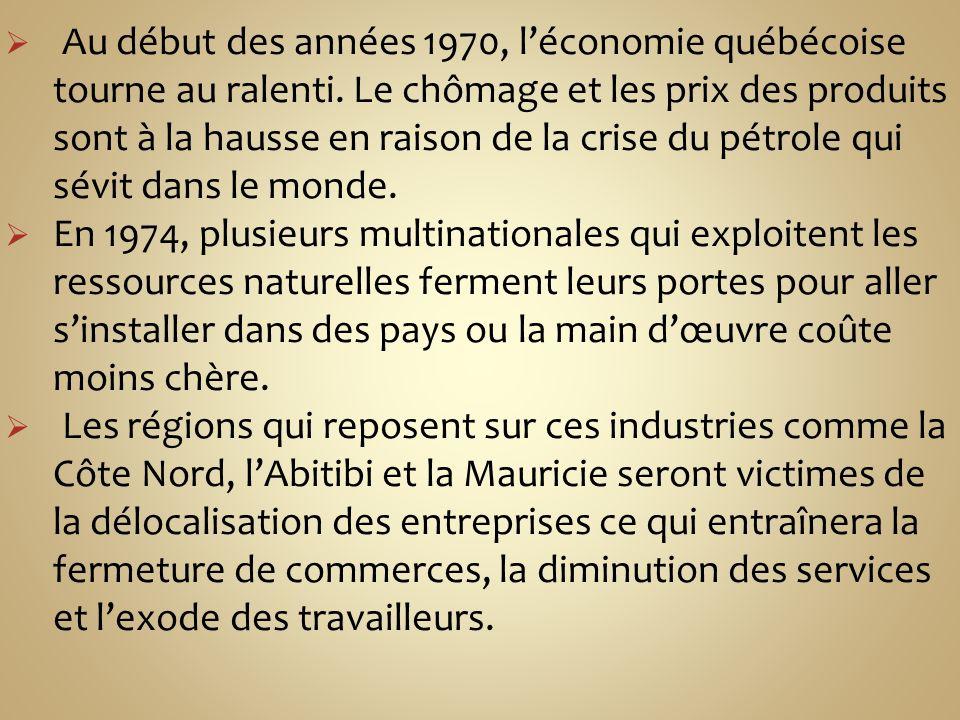 1) La croissance du secteur tertiaire et le recul des secteurs primaire et secondaire À partir de 1980, le secteur tertiaire joue un rôle important dans la création demplois.