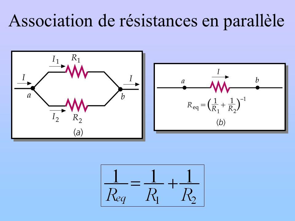 Association de résistances en parallèle