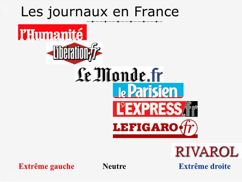 23 Les journaux en France V. Extrême gauche Neutre Extrême droite