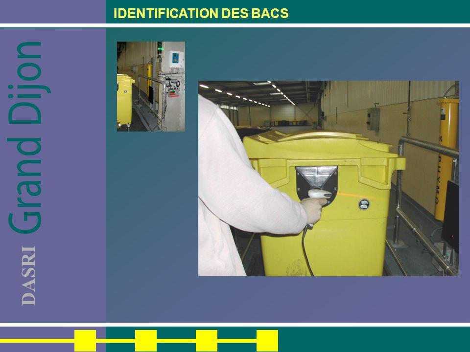 DASRI IDENTIFICATION DES BACS
