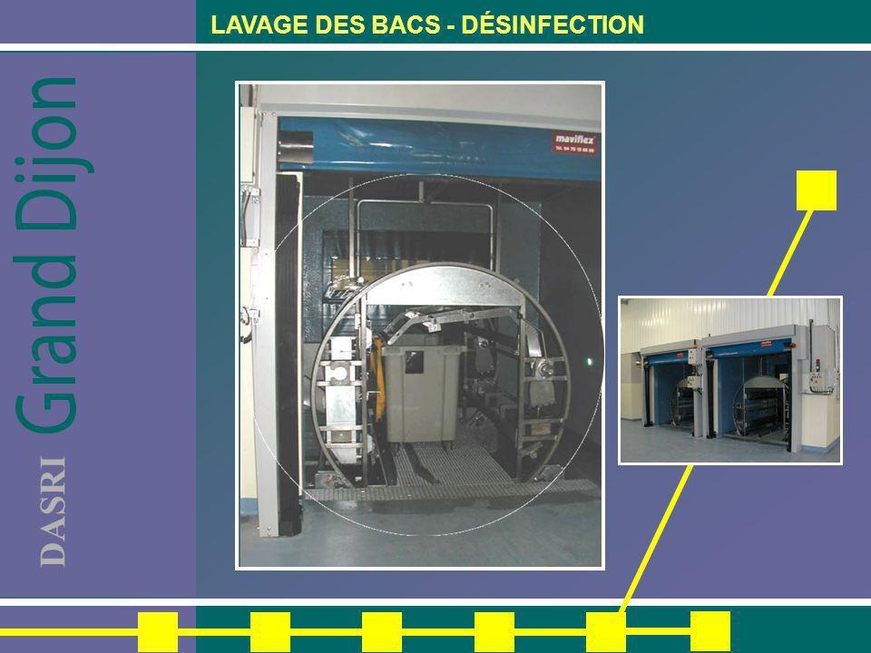 DASRI LAVAGE DES BACS - DÉSINFECTION