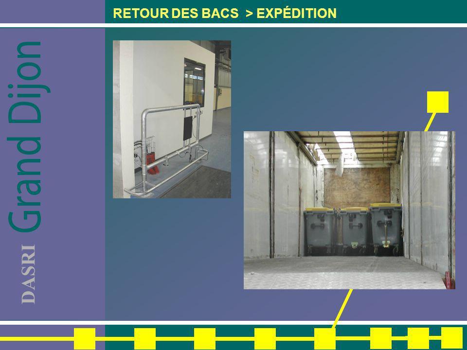 DASRI RETOUR DES BACS > EXPÉDITION