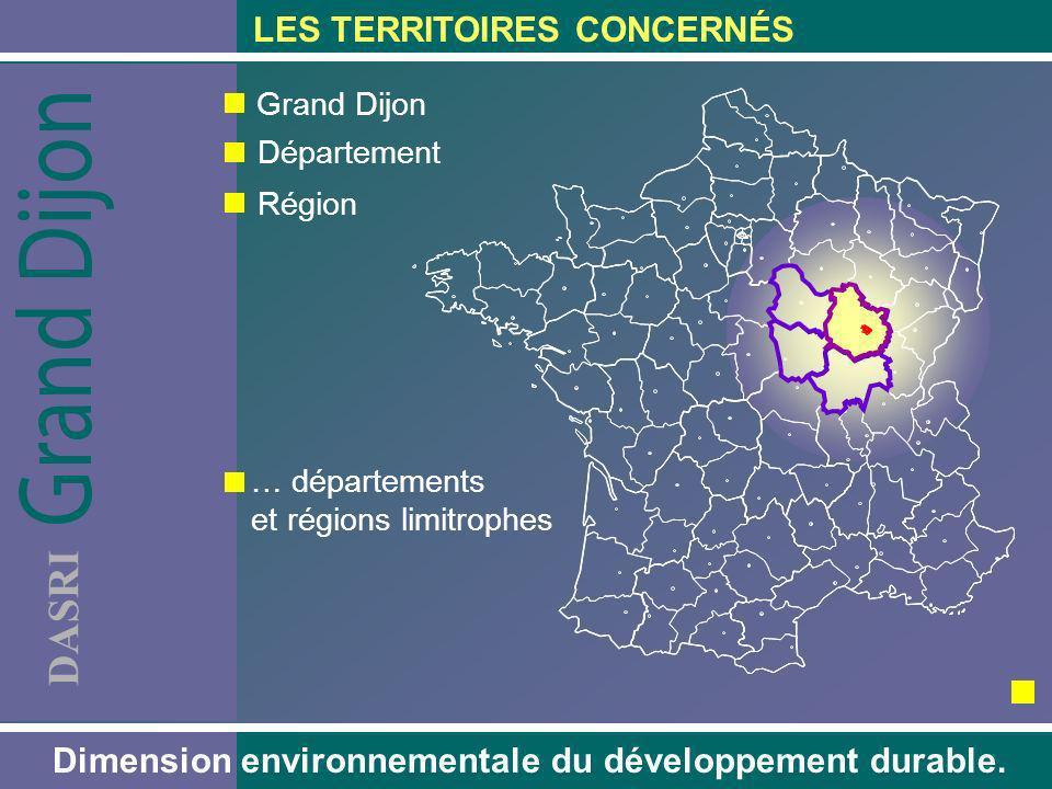 DASRI LES TERRITOIRES CONCERNÉS Dimension environnementale du développement durable. Grand Dijon Département Région … départements et régions limitrop