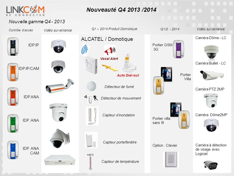 IDP.IP IDP.IP/CAM IDP.ANA CAM ALCATEL / Domotique Portier GSM 3G Portier Villa Portier villa sans fil Option : Clavier Caméra Dôme - LC Caméra Bullet