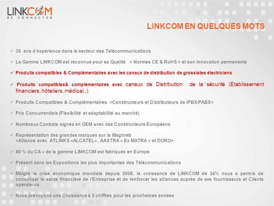 LINKCOM sest doté dune vitrine site marchand permettant dacquérir un référencement naturel sur le moyen terme avec lambition au moment voulu daccentuer les ventes B to C Site marchand www.tel2pro.fr