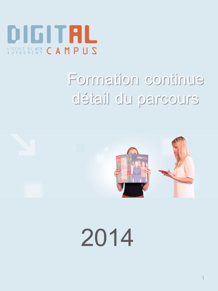 2014 1 Formation continue détail du parcours