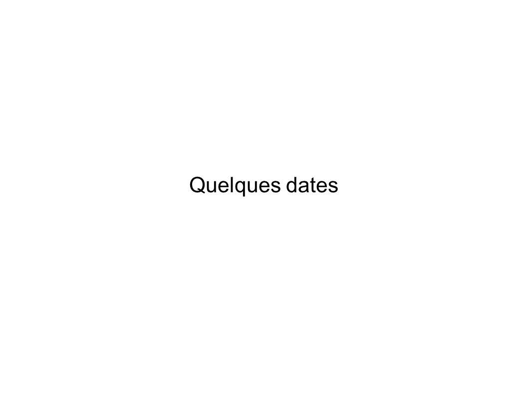 Quelques dates