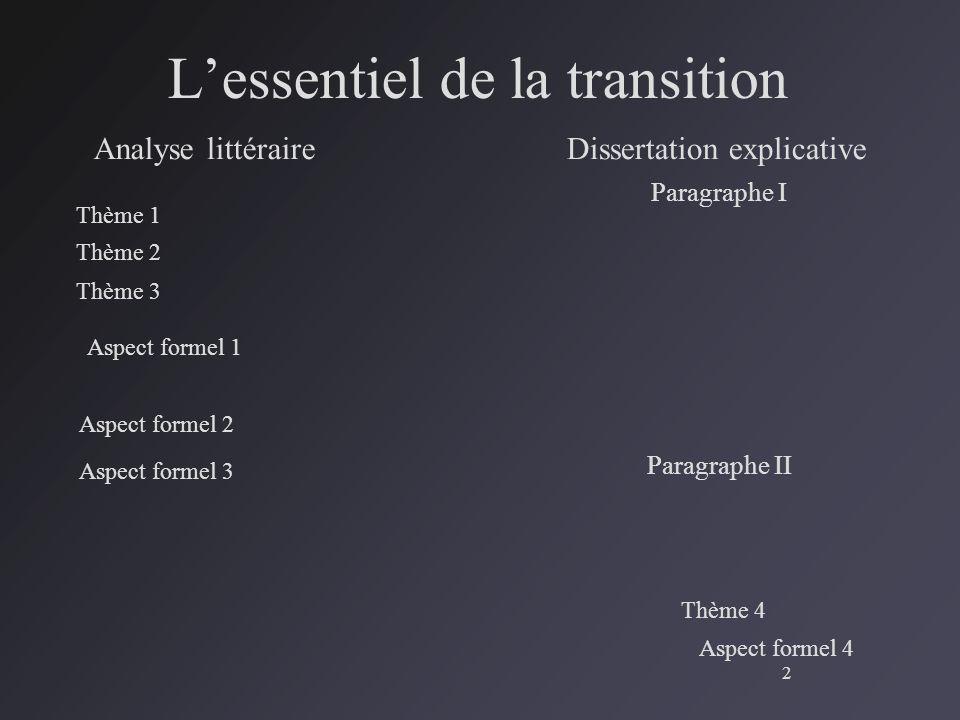 Comment faire une dissertation explicative