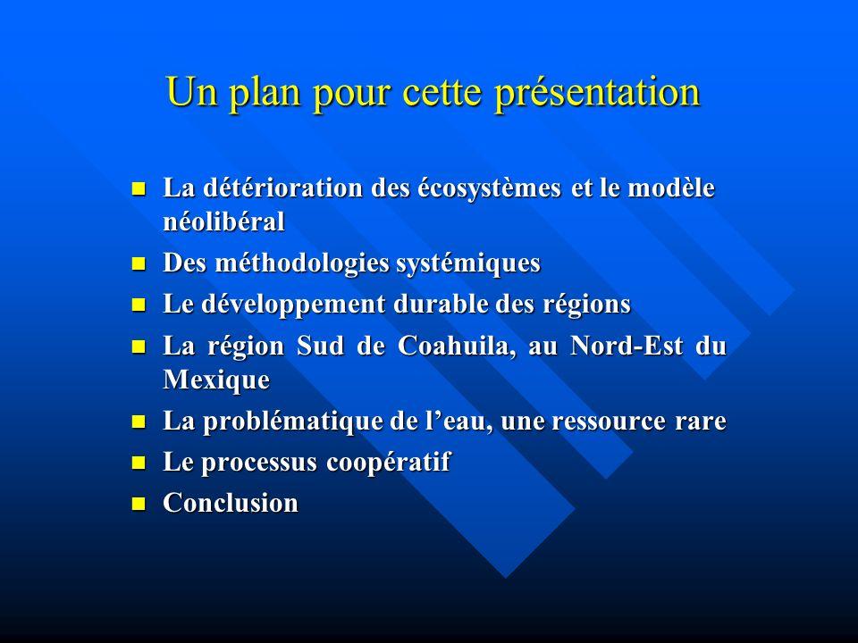 Le développement durable des régions (3) La durabilité dune région est établie par la capacité de ces sources régionales à être maintenues dans leurs niveaux acceptables, tant en quantité quen qualité.