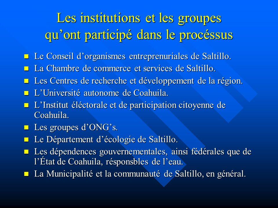 Conclusion On pourrait dire que le processus de coopération et de démocratie participative, dans les aspects dimportance communautaire à Saltillo, a été une réussite.