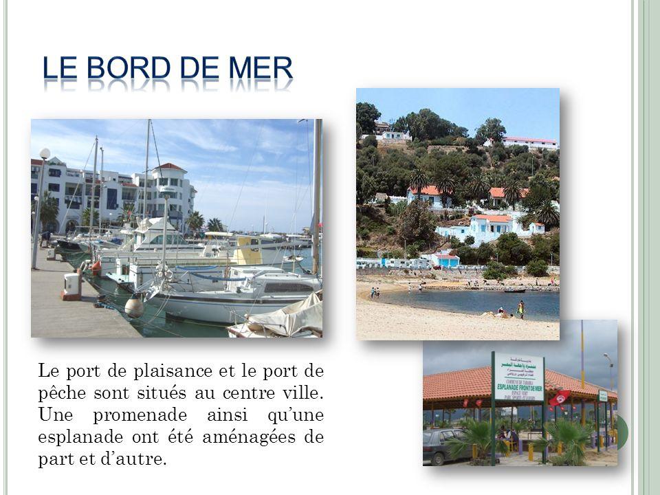 Le port de plaisance et le port de pêche sont situés au centre ville. Une promenade ainsi quune esplanade ont été aménagées de part et dautre.