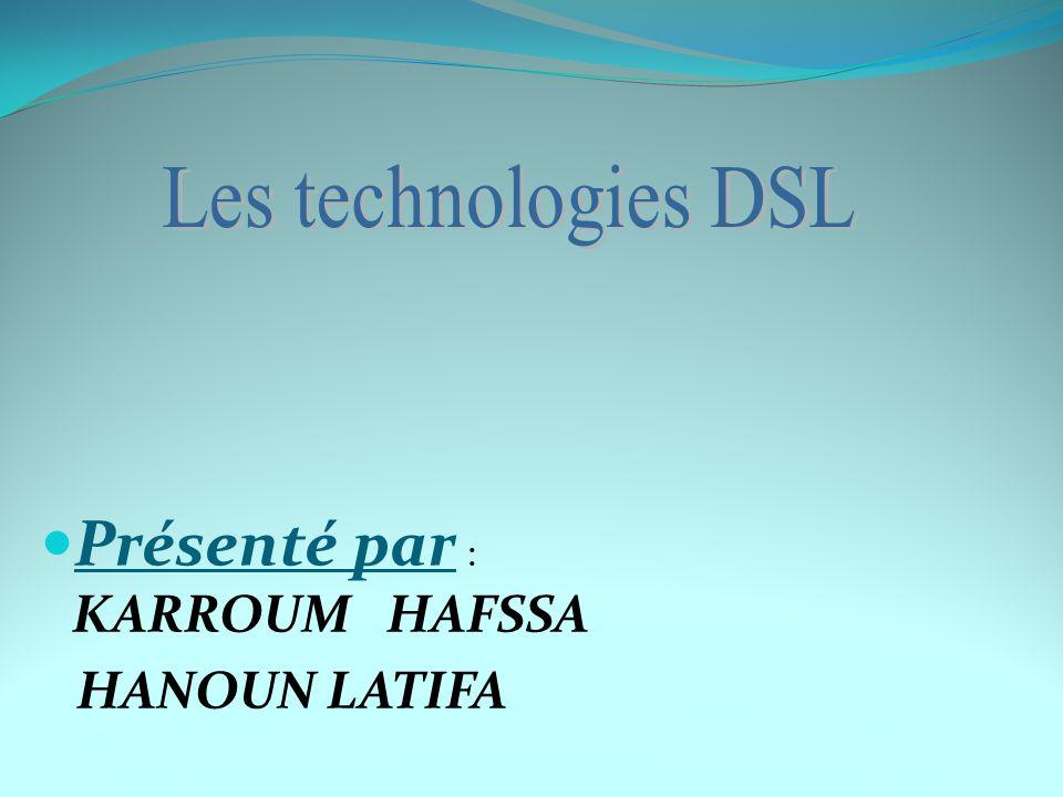 Technologies DSL existantes a) HDSL, SDSL La première technique issue de l arbre DSL, au début des années 90, a consisté à diviser le tronc numérique du réseau, T1 aux Etats-Unis, E1 en Europe, sur plusieurs paires de fils, et ce, grâce à la théorie du signal qui permet d augmenter le nombre de bits par symbole transmis.