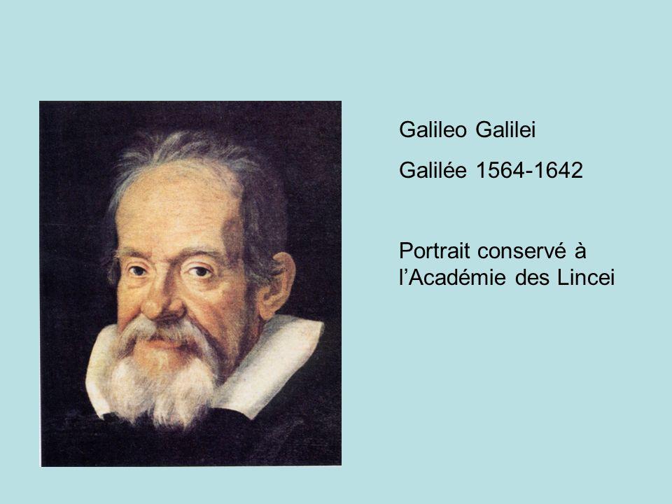 Galileo Galilei Galilée 1564-1642 Portrait conservé à lAcadémie des Lincei