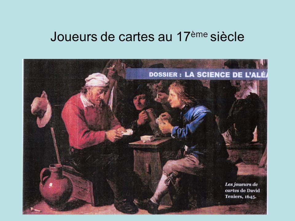 Joueurs de cartes au 17 ème siècle