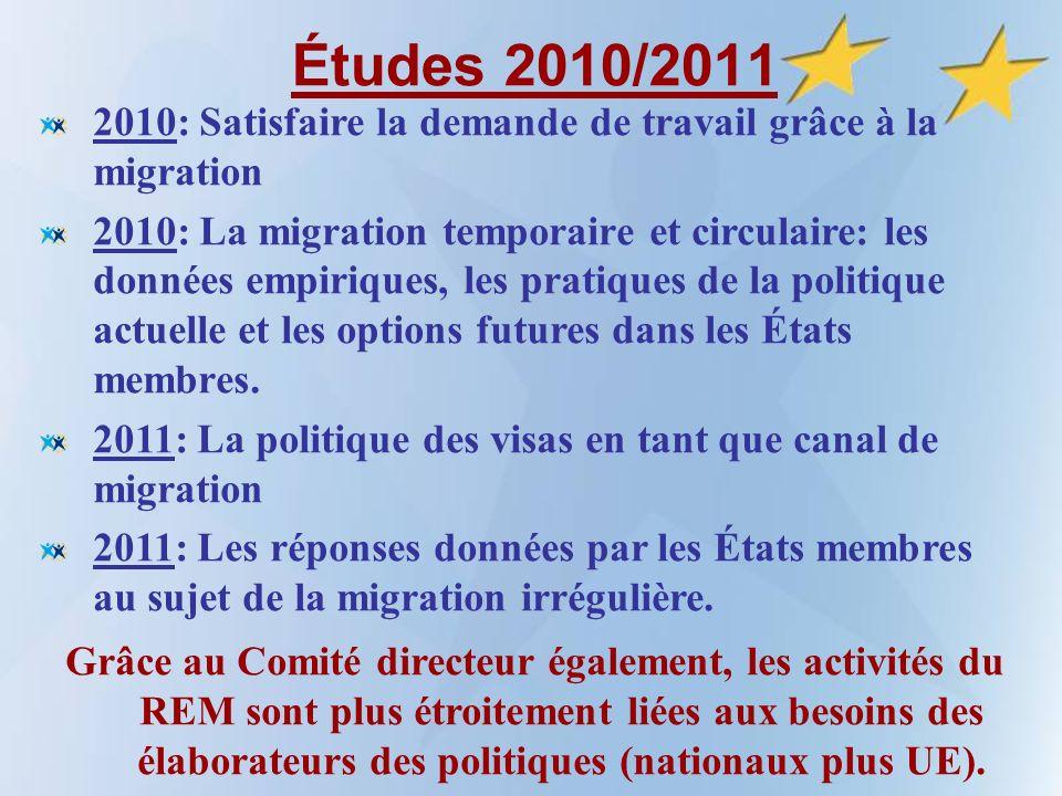Études 2010/2011 2010: Satisfaire la demande de travail grâce à la migration 2010: La migration temporaire et circulaire: les données empiriques, les pratiques de la politique actuelle et les options futures dans les États membres.