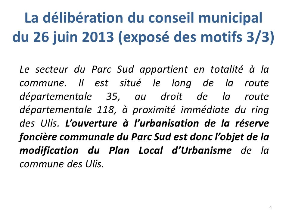 Situation actuelle Ulis 2 Mairie Parc sud 5