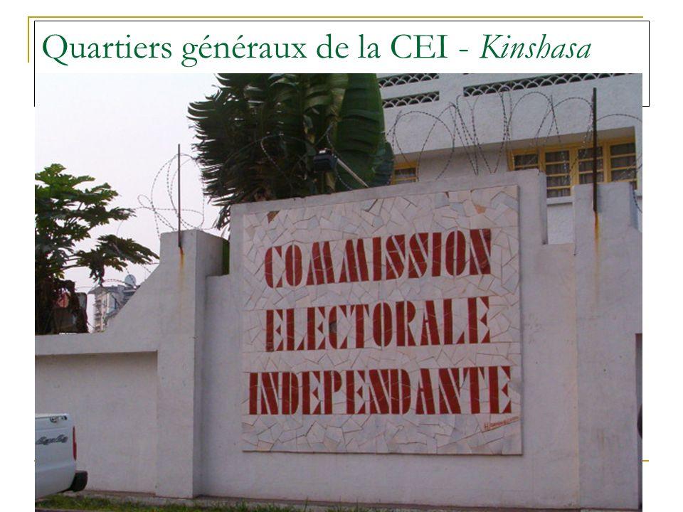 Quartiers généraux de la CEI - Kinshasa