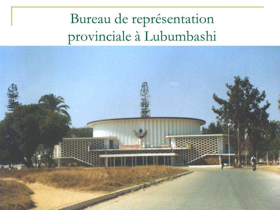 Bureau de représentation provinciale à Lubumbashi