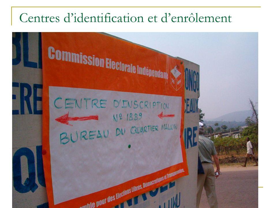 Centres didentification et denrôlement