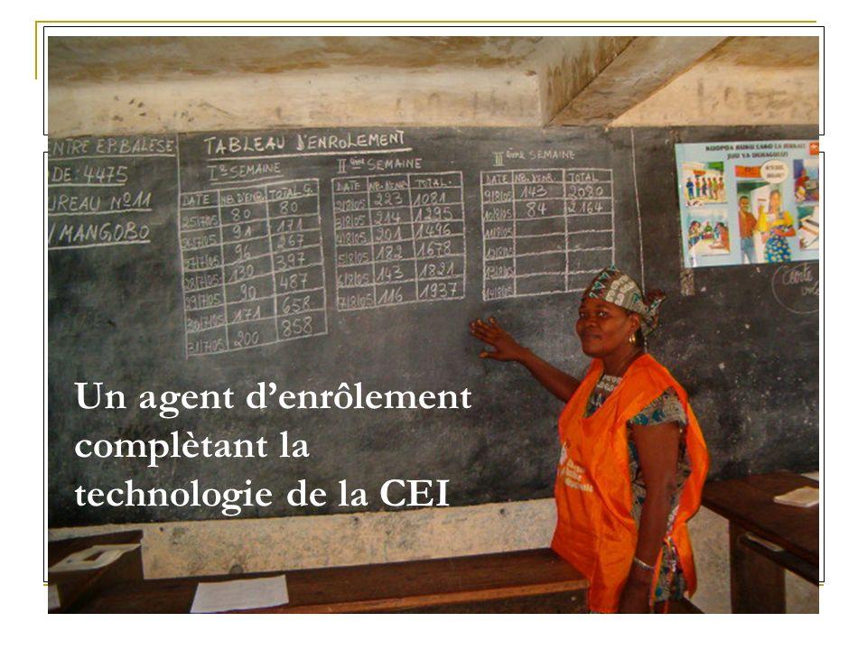 Un agent denrôlement complètant la technologie de la CEI