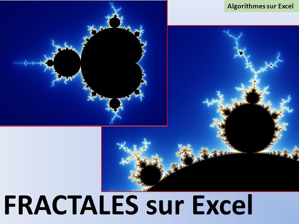 Algorithmes sur Excel FRACTALES sur Excel