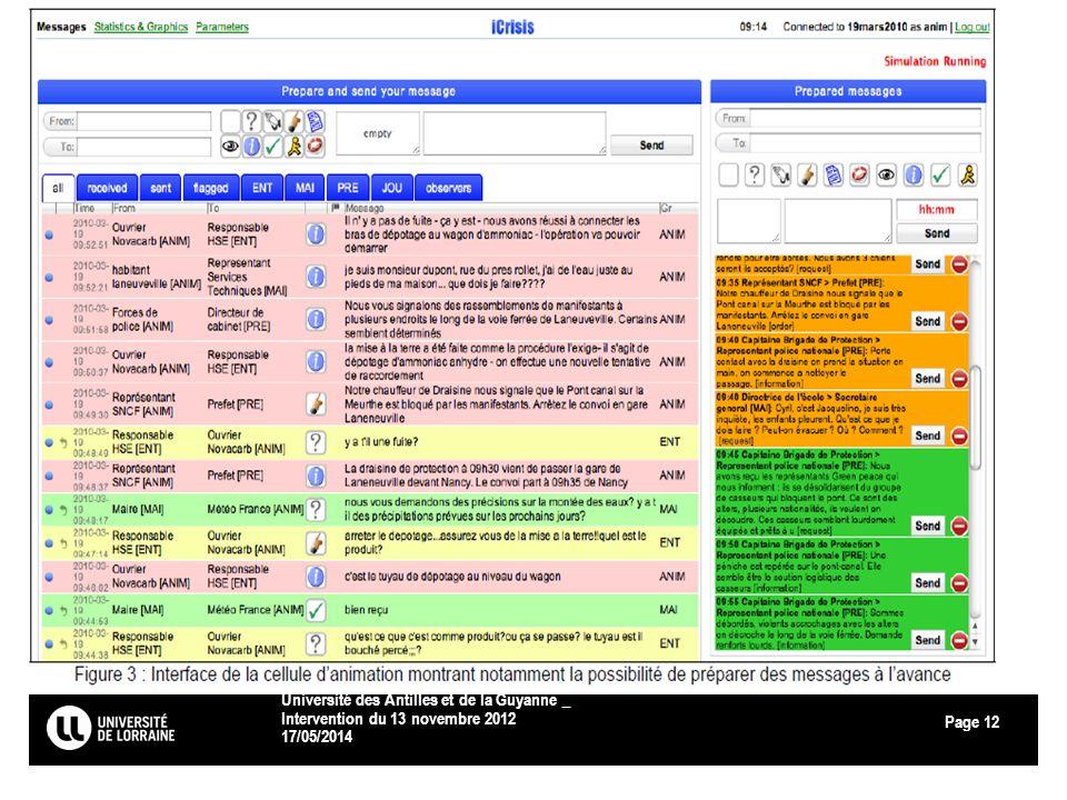 Page 17/05/2014 Université des Antilles et de la Guyanne _ Intervention du 13 novembre 2012 12