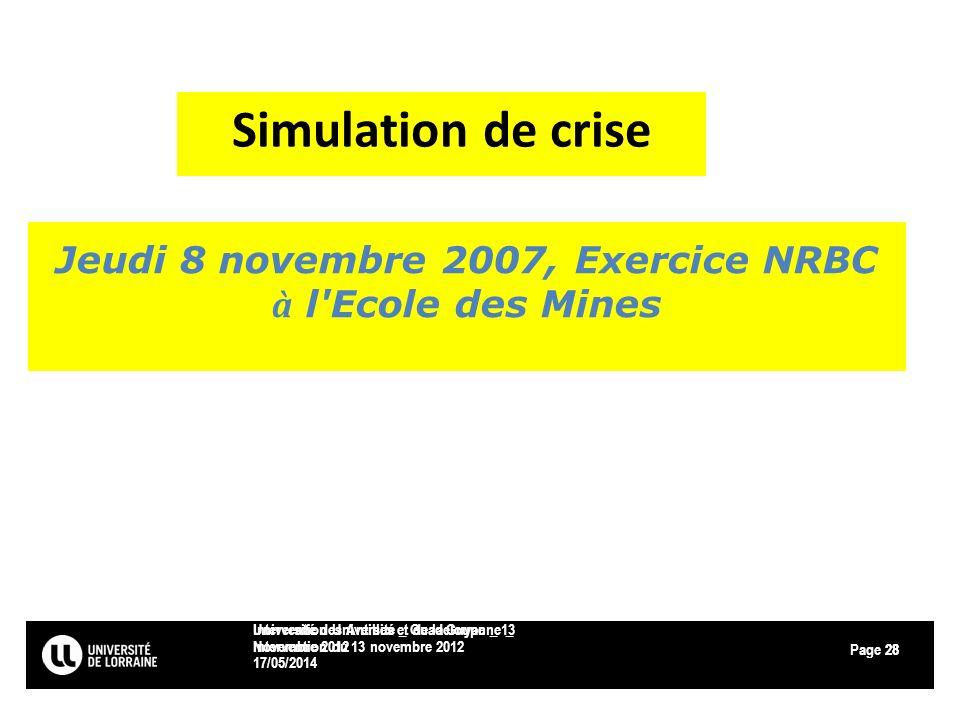 Page 17/05/2014 Université des Antilles et de la Guyanne _ Intervention du 13 novembre 2012 28 Intervention Université _ Guadeloupe _ 13 Novembre 2012
