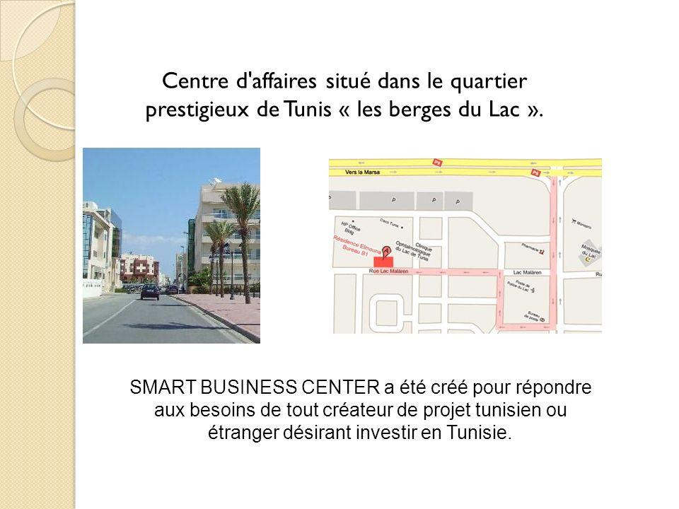 Centre d'affaires situé dans le quartier prestigieux de Tunis « les berges du Lac ». SMART BUSINESS CENTER a été créé pour répondre aux besoins de tou