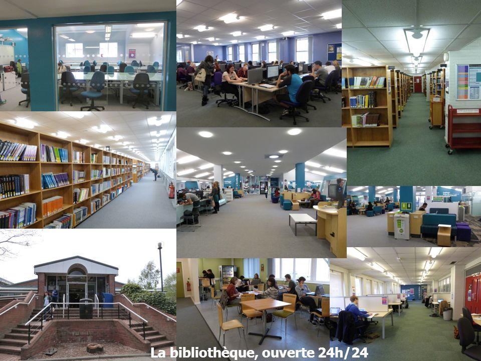 La bibliothèque, ouverte 24h/24