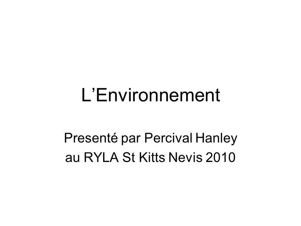 LEnvironnement Presenté par Percival Hanley au RYLA St Kitts Nevis 2010