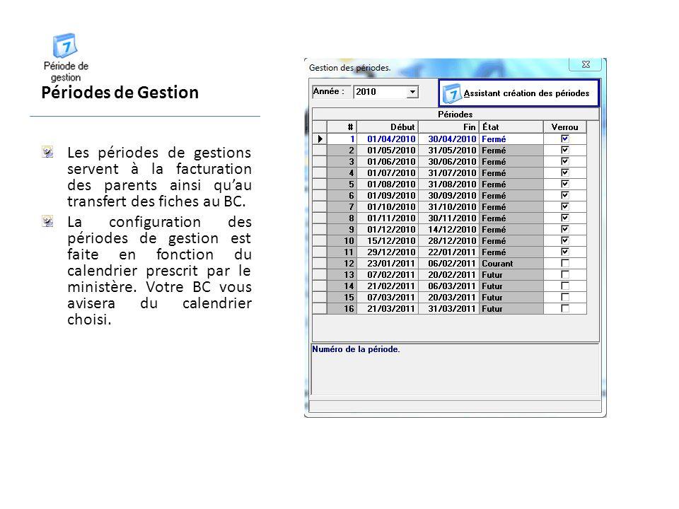 Maintenance du système Correction du calcul des Fiches La correction du calcul des fiches de présence est une fonction qui peut être utile lorsque les informations sur la présence dun enfant ont été modifiées à lintérieur dune période passée.