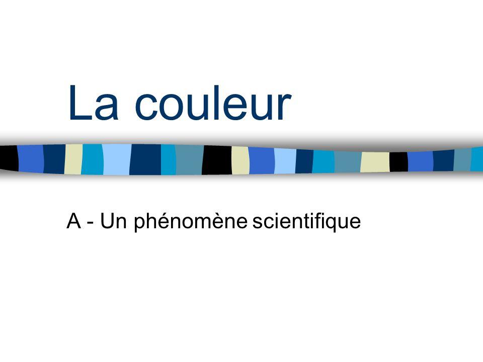 La couleur A - Un phénomène scientifique