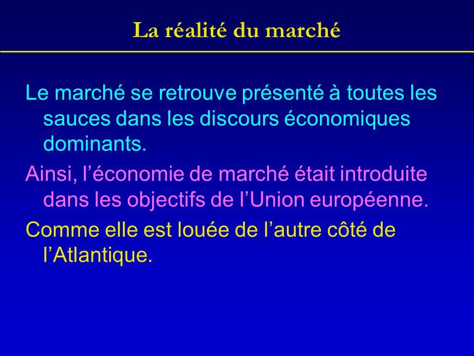 La théorie du marché Durant des siècles, les économies les plus performantes étaient fondées sur un Etat central fort.