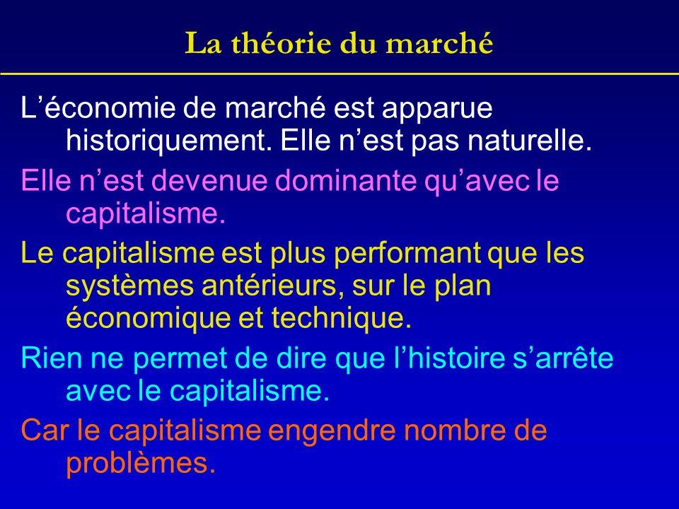 La théorie du marché Léconomie de marché est apparue historiquement.