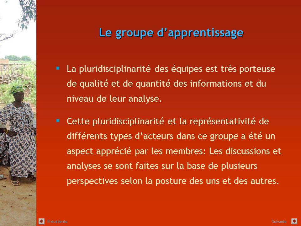 Le groupe dapprentissage La pluridisciplinarité des équipes est très porteuse de qualité et de quantité des informations et du niveau de leur analyse.