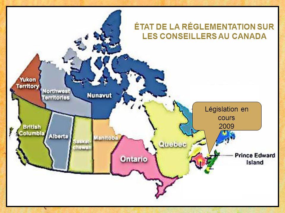 Législation en cours 2009