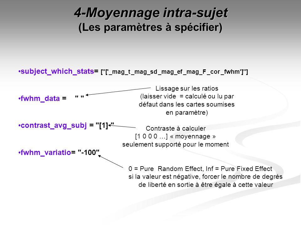 4-Moyennage intra-sujet (Les paramètres à spécifier) subject_which_stats= [