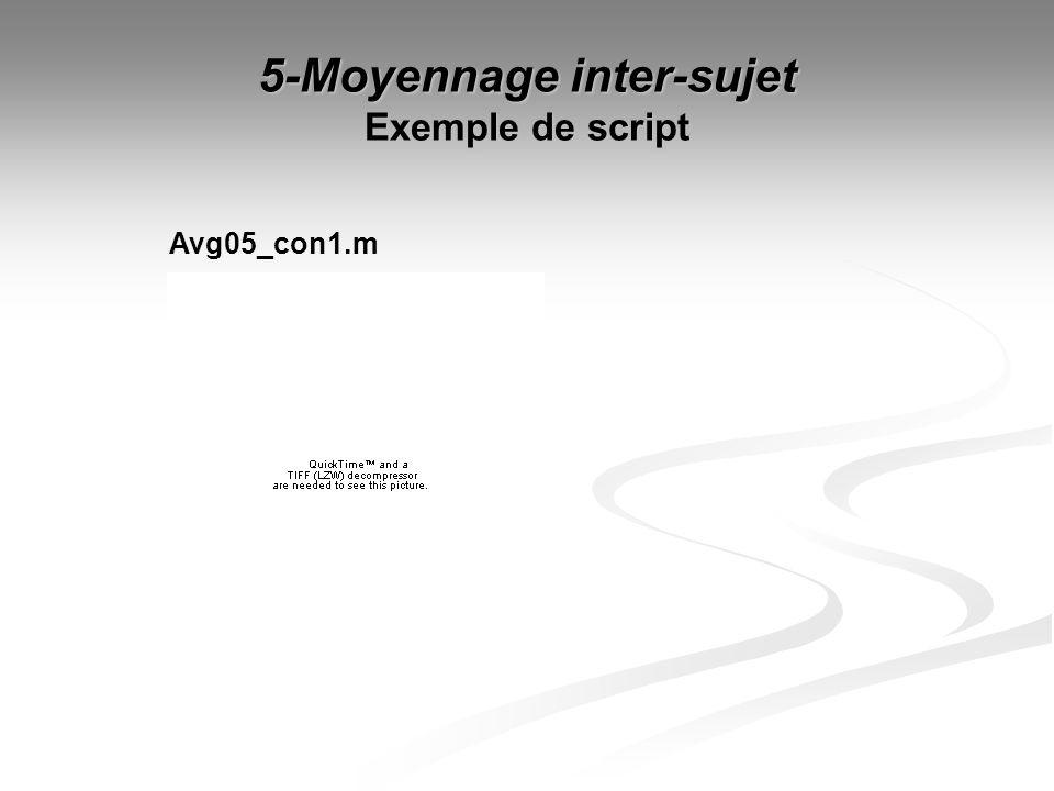 5-Moyennage inter-sujet Exemple de script Avg05_con1.m
