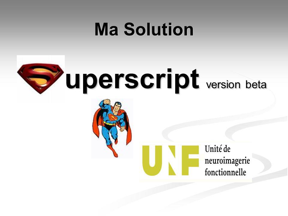uperscript version beta Ma Solution