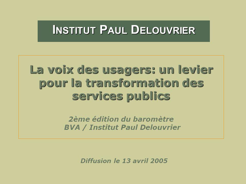La voix des usagers: un levier pour la transformation des services publics La voix des usagers: un levier pour la transformation des services publics