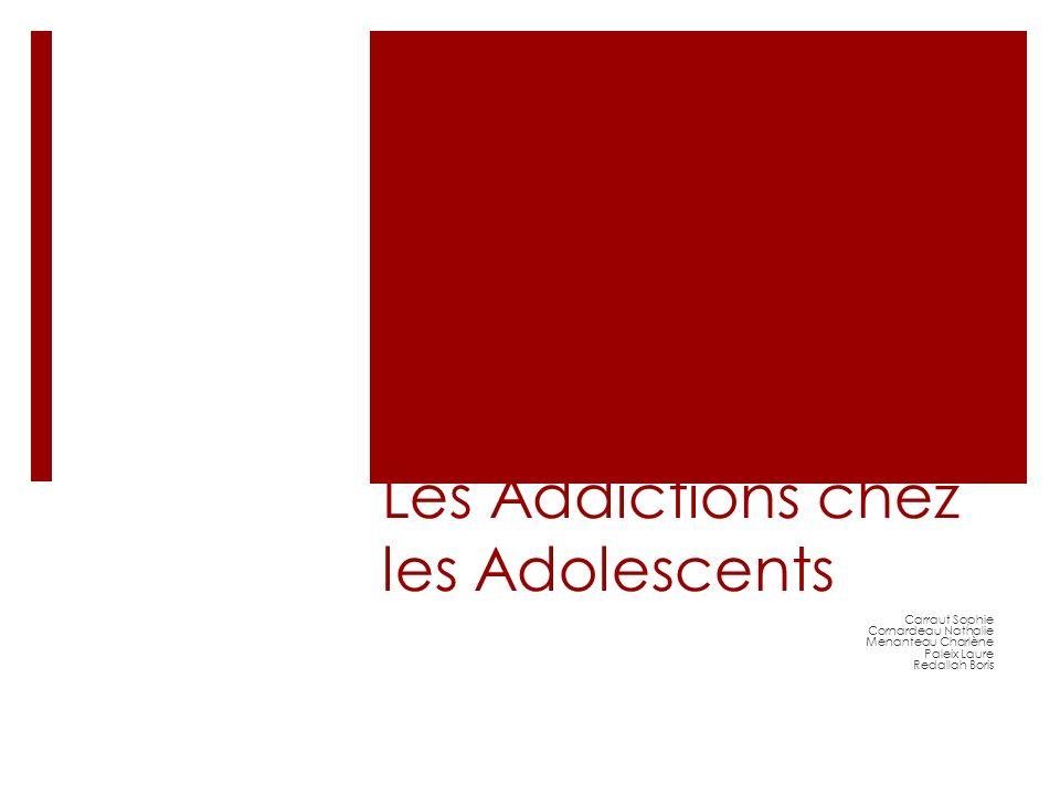 Les Addictions chez les Adolescents Carraut Sophie Cornardeau Nathalie Menanteau Charlène Paleix Laure Redallah Boris