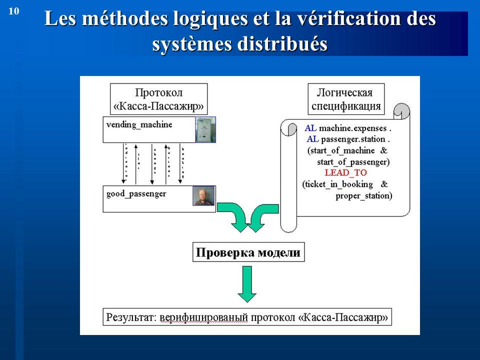10 Les méthodes logiques et la vérification des systèmes distribués