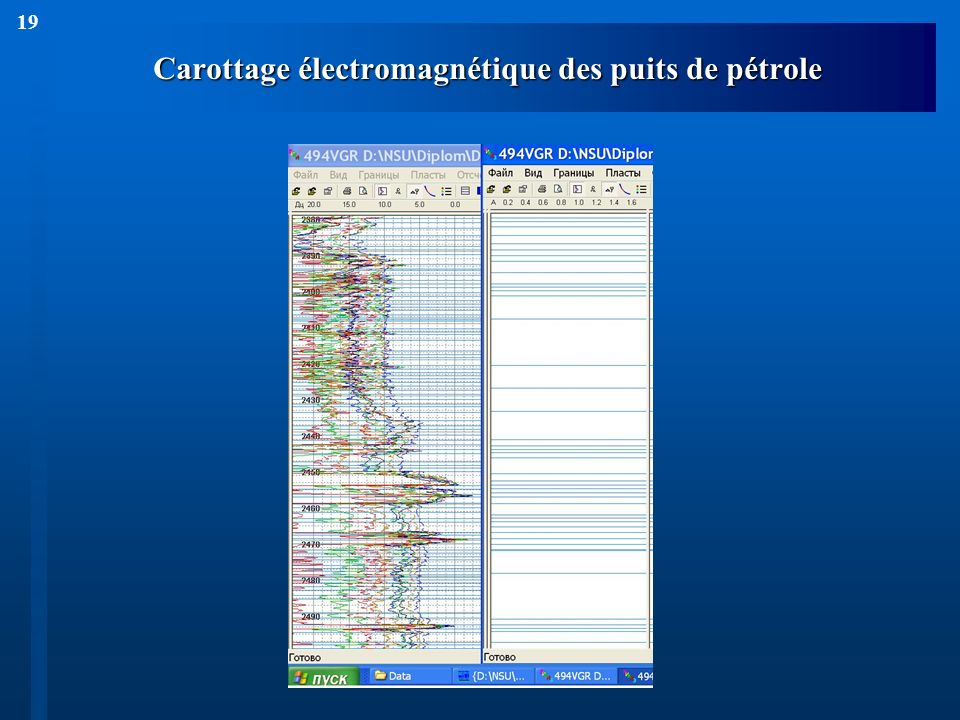 19 Carottage électromagnétique des puits de pétrole