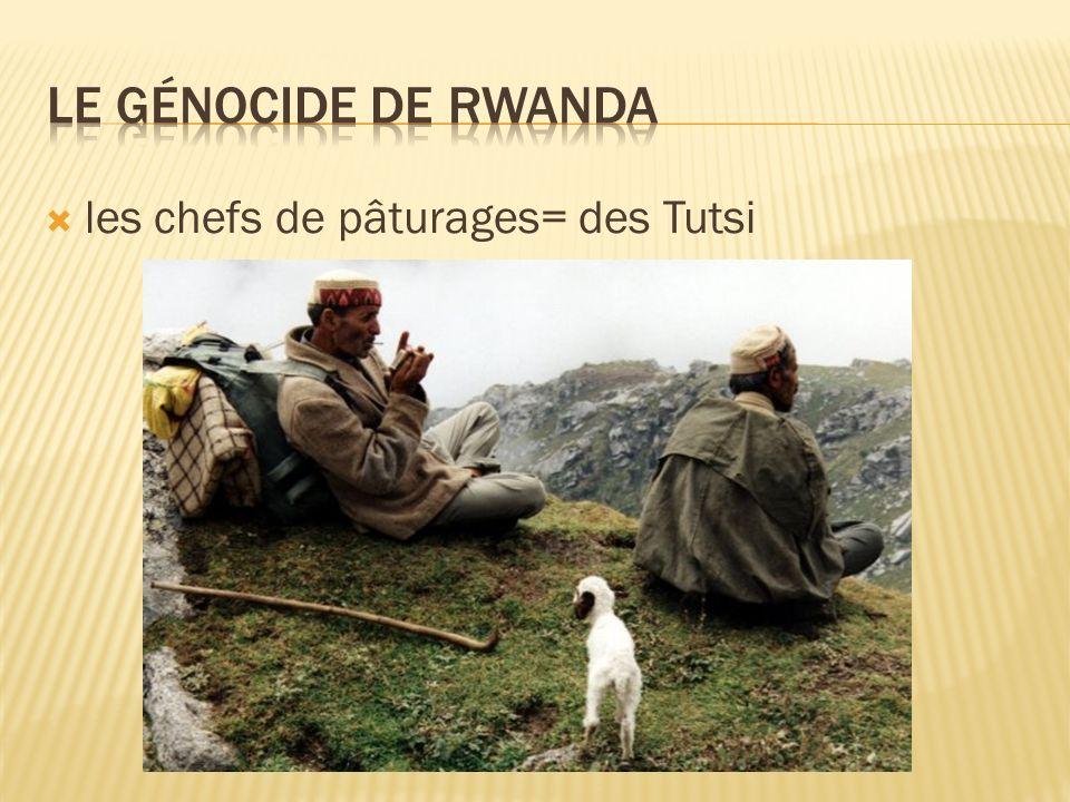 les chefs de pâturages= des Tutsi
