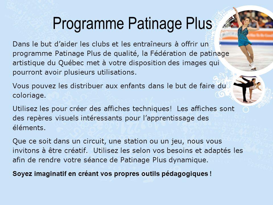 Programme Patinage Plus Dans le but daider les clubs et les entraîneurs à offrir un programme Patinage Plus de qualité, la Fédération de patinage arti