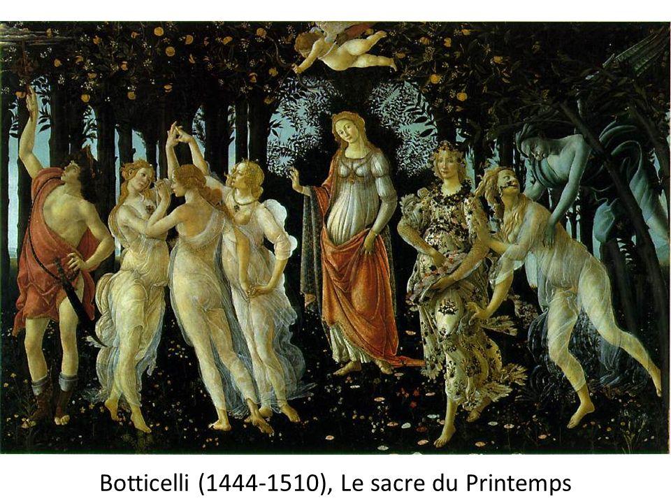 Botticelli (1444-1510), Le sacre du Printemps