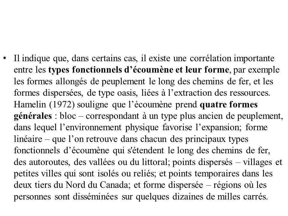 Il indique que, dans certains cas, il existe une corrélation importante entre les types fonctionnels découmène et leur forme, par exemple les formes a