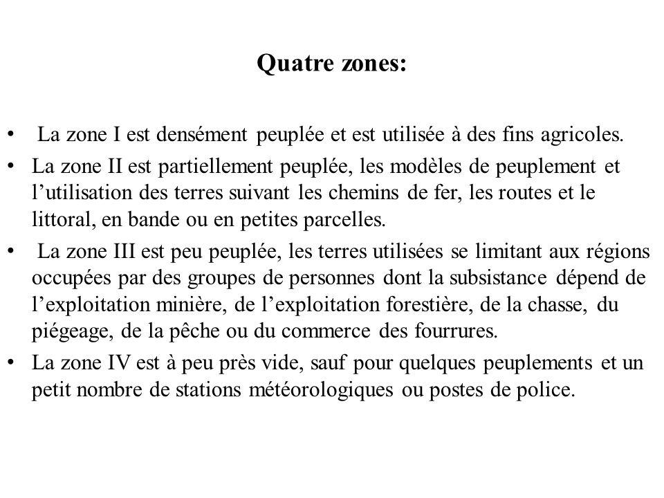 Hamelin (1972) étudie aussi lécoumène à partir de la forme et de la fonction du peuplement.